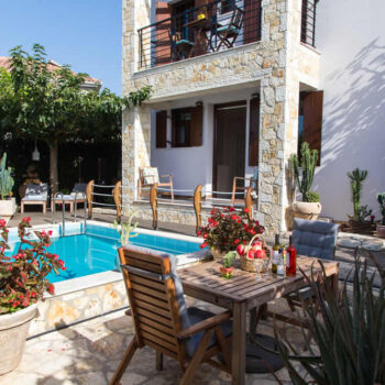 Cactus, Two Rental Villas, with a swimming pool and a view to the Ionian sea at a close distance, in Sivota village, Greece