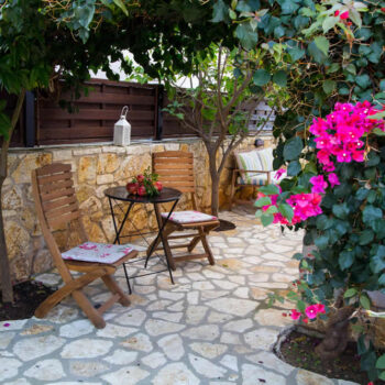 Cactus Rental Villas, with a swimming pool and a view to the Ionian sea at a close distance, in Syvota village, Greece