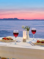 Restaurant by the sea in Syvota, Greece