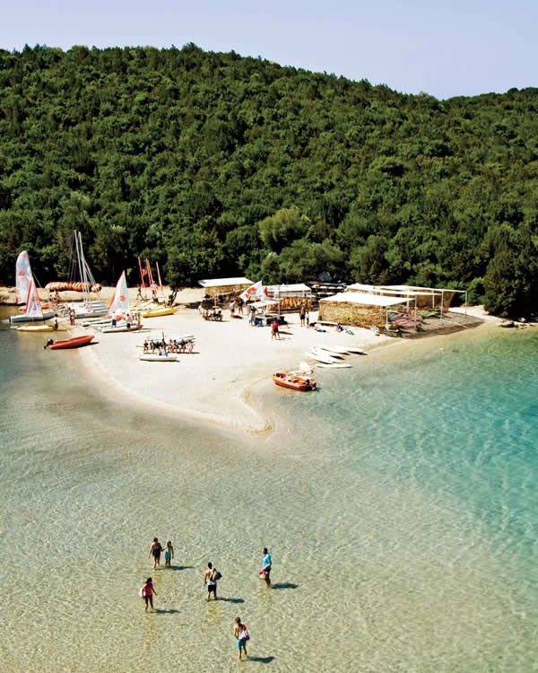 Sivota (also written Syvota) is a contemporary, picturesque, seaside village where the green scenery embraces the unique blue colour of the sea creating an idyllic location